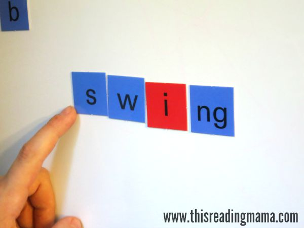 spelling with letter tiles from All About Spelling