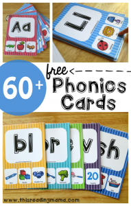 MEGA Pack of FREE Phonics Cards