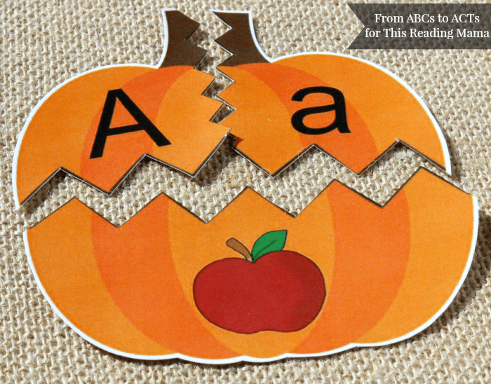 FREE Beginning Sound Pumpkin Puzzles