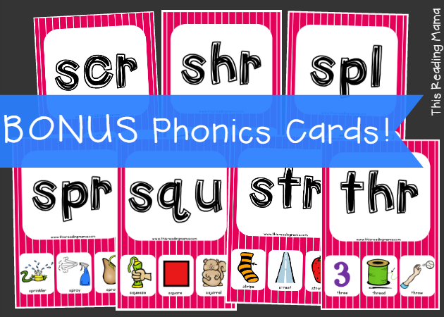 Bonus Phonics Cards for Triphthongs