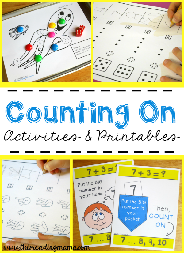 Counting On Activities and Printables {FREE} - This Reading Mama