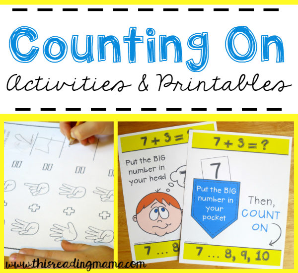 Activities and Printables for Counting On