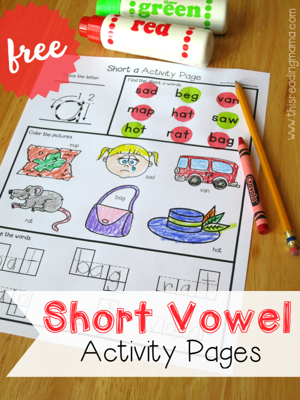 FREE Short Vowel Activity Pages {for CVC Words}