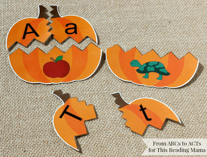 Pumpkin Puzzles for Beginning Sounds
