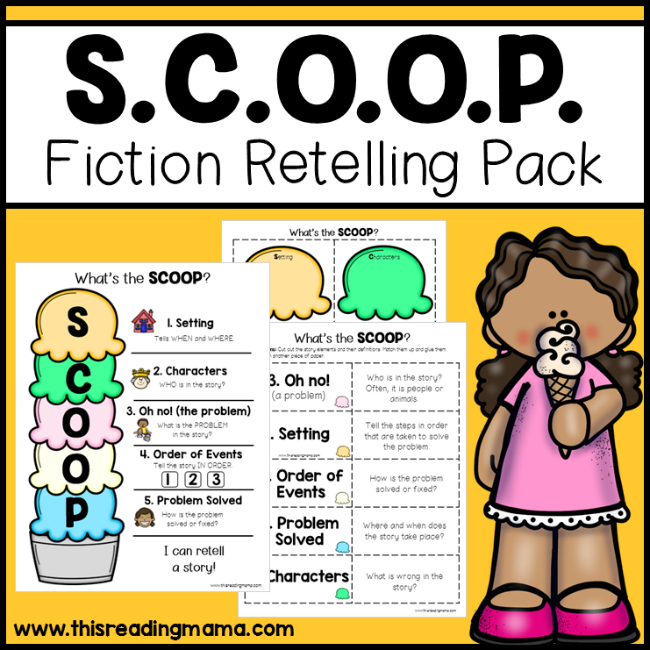 Fiction Retelling Pack with SCOOP - This Reading Mama