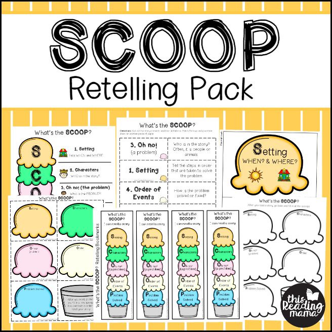 SCOOP Retelling Pack - This Reading Mama