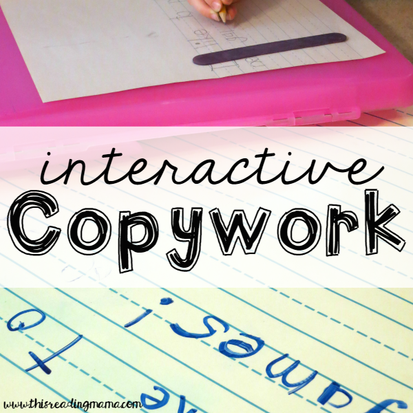 Teaching Writing with Interactive Copywork This Reading Mama