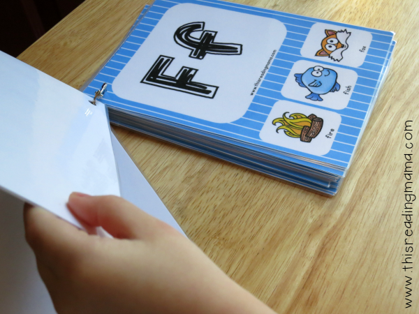 beginning letter sound flip book