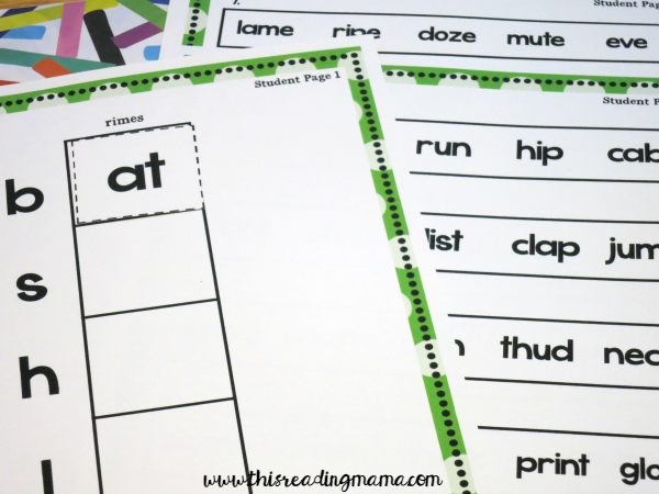 phonics assessment student pages