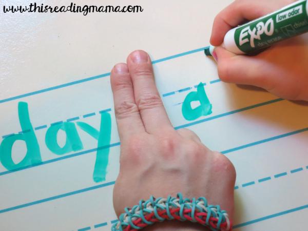 spacing in between words as we share the pen