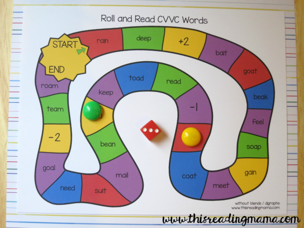 FREE Long Vowel Roll and Read Games