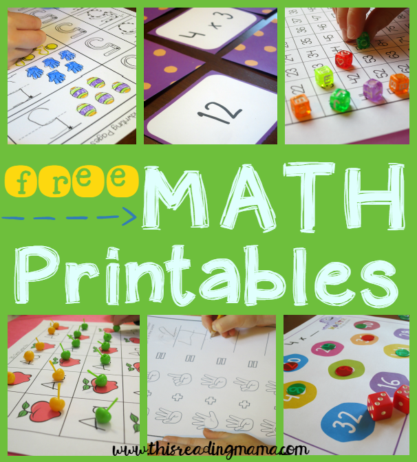 FREE K-2 Math Activities - This Reading Mama