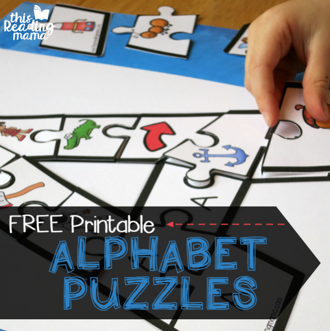 FREE Printable Alphabet Puzzles for uppercase and lowercase letters - This Reading Mama