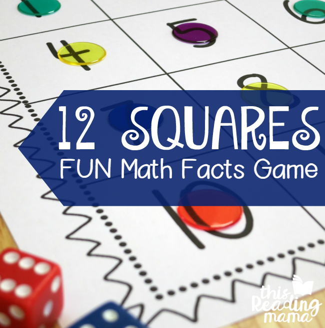 Fun Game for Practicing Math Facts {FREE} - This Reading Mama