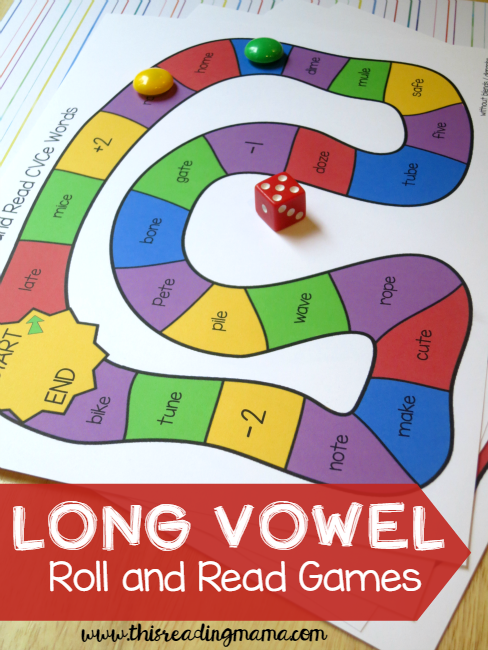 Long Vowel Roll and Read Games