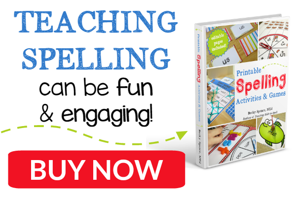 Printable Spelling Activities and Games - by Becky Spence of This Reading Mama