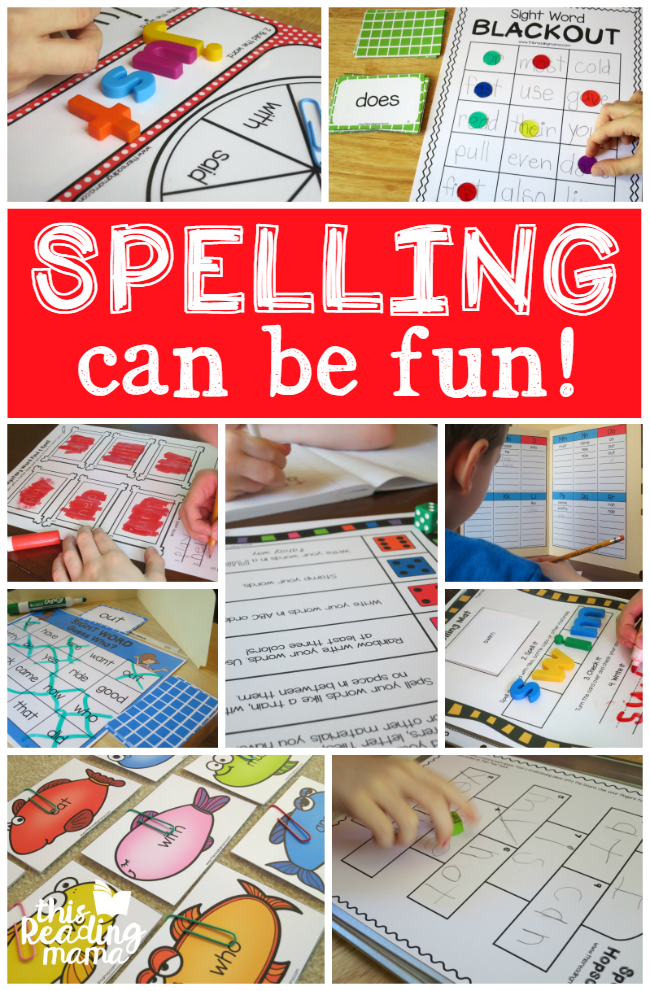 Spelling Can be Fun: Ideas to Make Spelling FUN   This Reading Mama