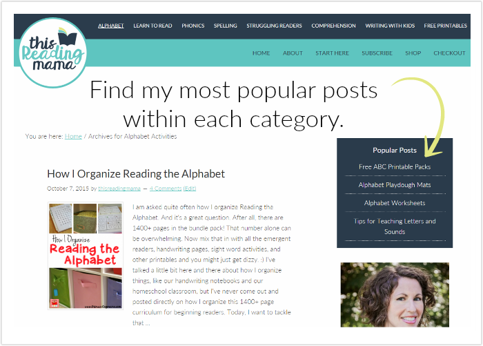 find popular posts within categories