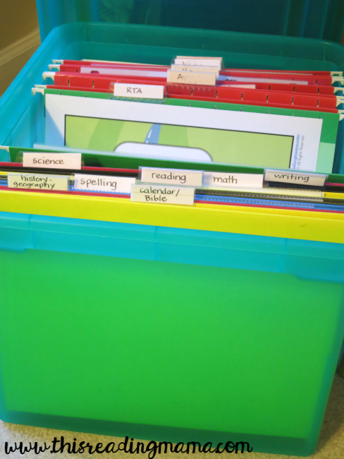 large file box to organize odds and ends