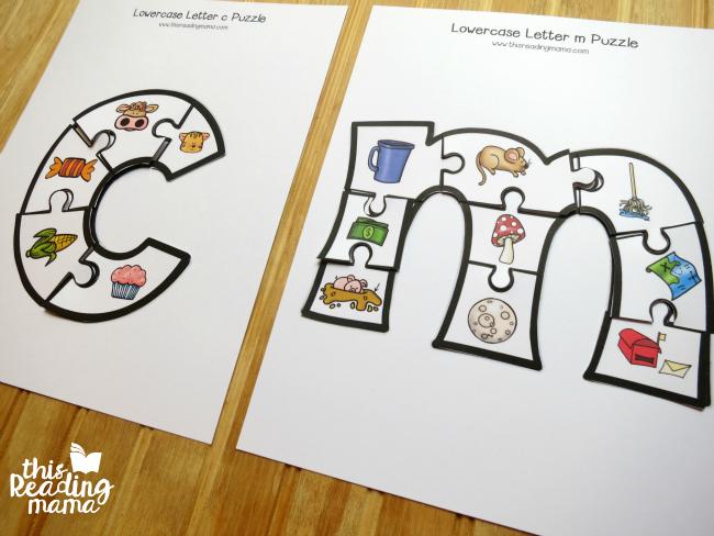 letter c and m alphabet puzzles