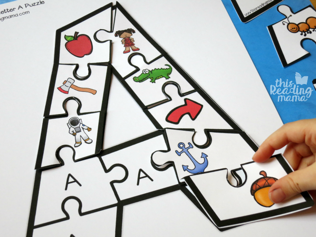 Printable Alphabet Puzzles Upper And Lowercase Letters