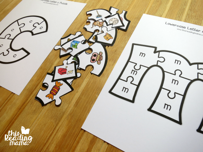 sorting letter sounds with alphabet puzzles
