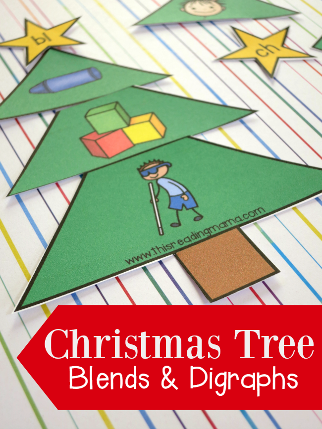 Christmas Tree Initial Blends and Digraphs Sorts {FREE} - This Reading Mama