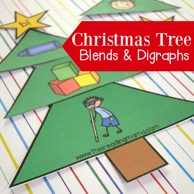 FREE Christmas Tree Blends and Digraphs Sorts - This Reading Mama
