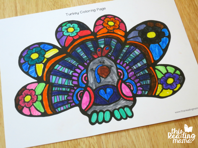 FREE Turkey Coloring Page