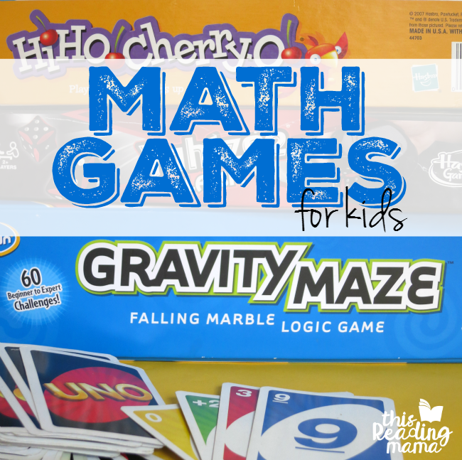 Math Games for Kids - a list of Board Games that Build Math Skills - This Reading Mama
