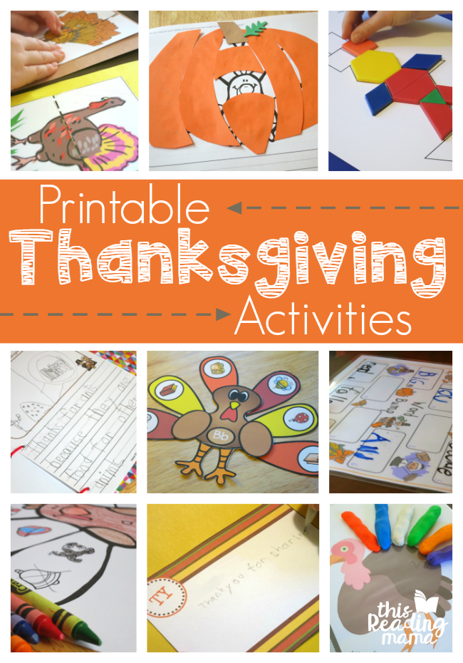 graphic about Printable Thanksgiving Activities named Printable Thanksgiving Things to do for Little ones