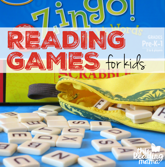 Reading Games for Kids - a list of board games that build reading skills - This Reading Mama