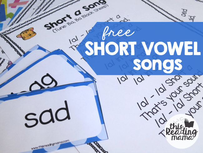 Short Vowel Songs - a different song for each vowel sound