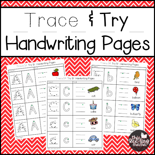 Trace and Try Handwriting Pages Pack | This Reading Mama