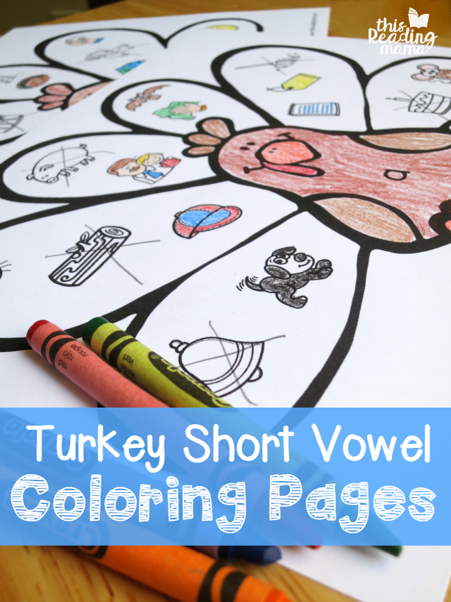 Turkey Short Vowel Coloring Pages