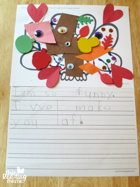 Disguise A Turkey Writing Activity