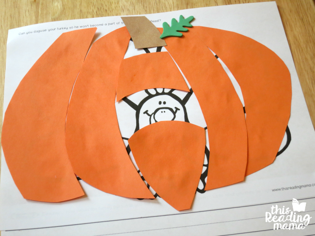 disguise a turkey as a pumpkin