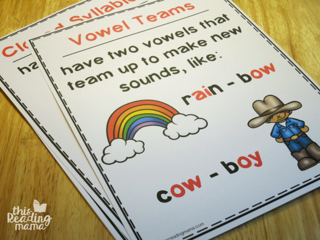 free syllable types wall charts