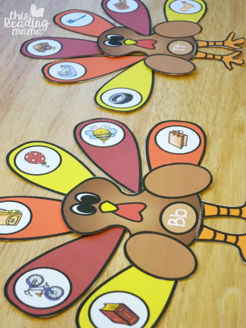 letter b and letter t turkey beginning letter sound sorts