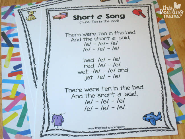 short e vowel song