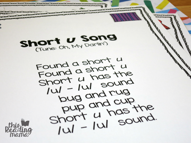 short u vowel song
