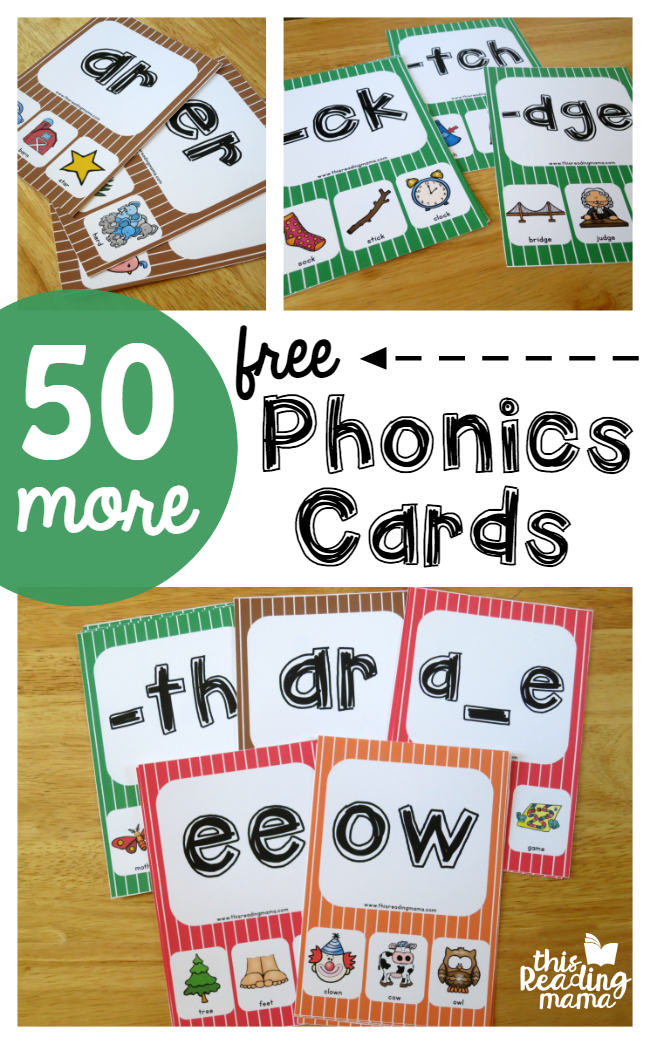50 MORE Phonics Cards...FREE