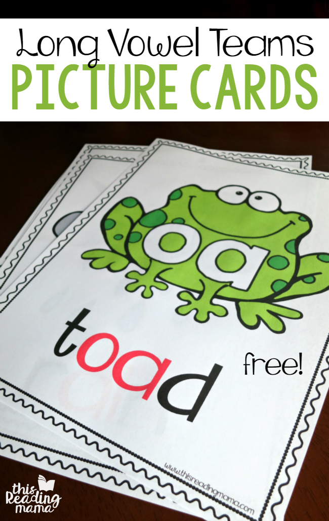 Vowel Teams – Long Vowel Picture Cards