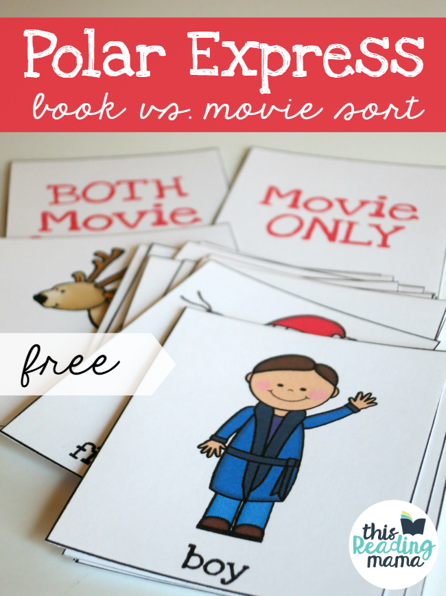 Polar Express Comprehension Activity - Book vs Movie Sort |This Reading Mama