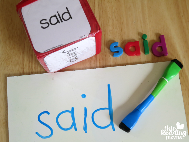 sight word dice - roll, spell, write sight words