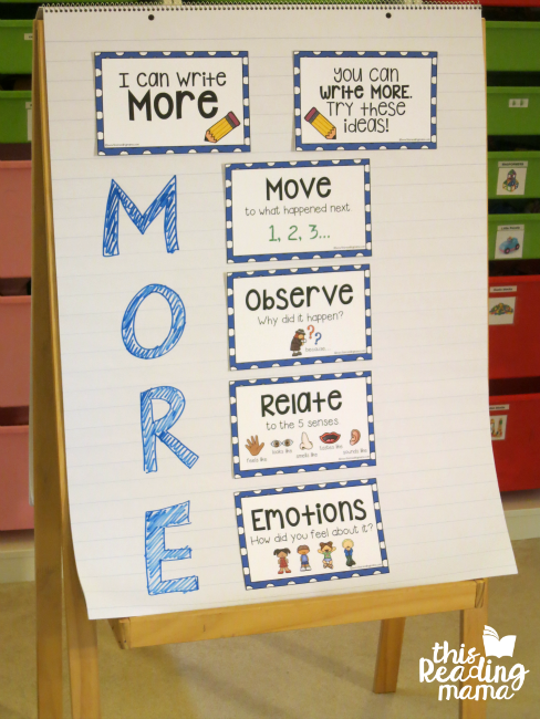 Getting Kids to Write More Anchor Chart - This Reading Mama