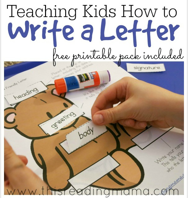 Teaching Kids How to Write a Letter from This Reading Mama