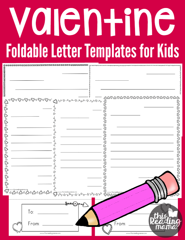 Writing Valentine Letters   Free Foldable Valentine Letter Templates For  Kids   This Reading Mama  Free Letters Templates