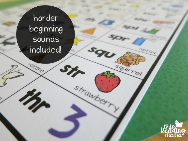 harder beginning sounds included on the chart