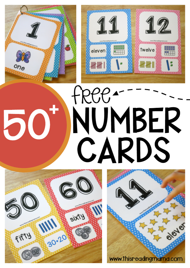 50+ Free Number Cards - This Reading Mama